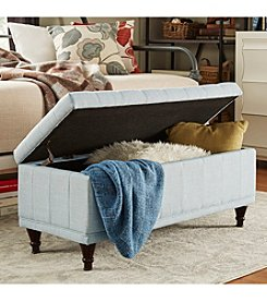 Home Interior Cumbria Tufted Linen Storage Bench