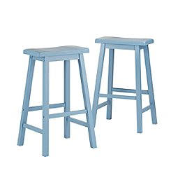 Home Interior Nevins Saddle Bar Stools - Set of Two