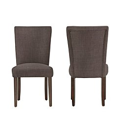 Home Interior Kirkwood Set of 2 Linen Dining Chairs