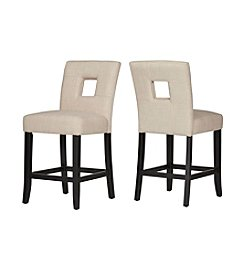 Home Interior Firenza Set of 2 Contemporary Counter Stools