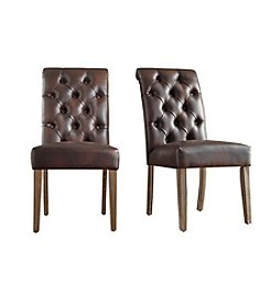 Home Interior Grace Set of 2 Button Tufted Dining Chairs