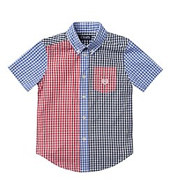 Chaps® Boys' 2T-7 Short Sleeve Gingham Party Shirt