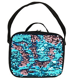 Teal & Pink Sequin Lunch Tote