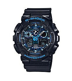 G-Shock Men's XL Analog-Digital Black with Blue Accents Watch
