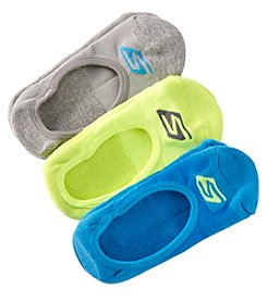 Skechers® Women's 3-Pack No Show Terry Socks