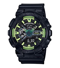 G-Shock Men's XL Black and Lime Analog-Digital Watch