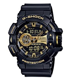 G-Shock Men's XL Black Gold Analog-Digital Watch