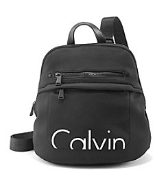 Calvin Klein Nylon Backpack WIth Pebble Leather Handle