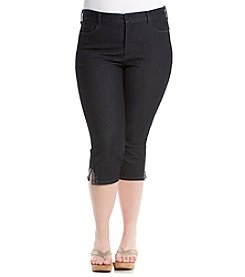 NYDJ® Plus Size Ariel Crop with Bling Jeans
