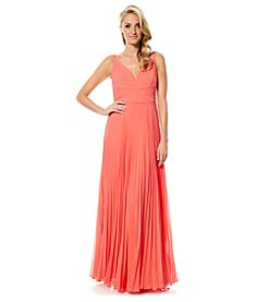 Laundry by Shelli Segal® Wrap Pleated Gown