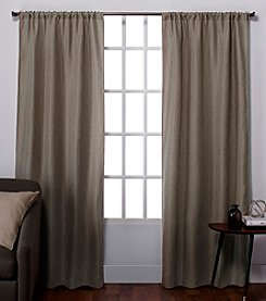 Exclusive Home Set of 2 Zamora Textured Window Curtain Panels