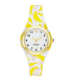 kate spade new york® Women's Banana Print Silicone And Goldtone Rumsey Watch