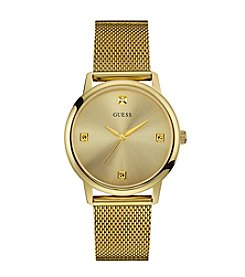 GUESS Men's Goldtone Slim Mesh Watch