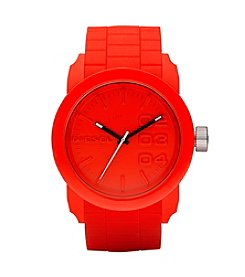 Diesel Men's Red And Silvertone Double Down S44 Watch