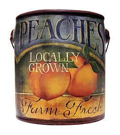 A Cheerful Giver 20 oz. Farm Fresh Juicy Peaches Candle in Ceramic Jar