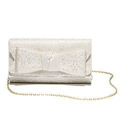 La Regale® Jacquard Bow Clutch