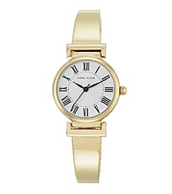 Anne Klein® Women's Goldtone Roman Numeral Bangle Watch