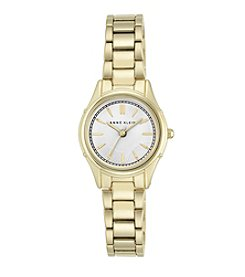 Anne Klein Women's Goldtone Polished Bracelet Watch