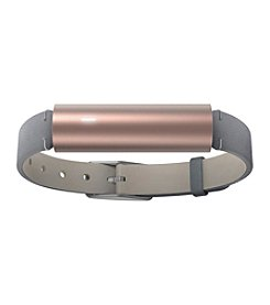 Misfit Ray™ Rose Goldtone Fitness Tracker with Grey Leather Strap