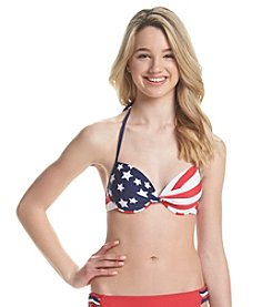 In Mocean® Stellar Flag Push-Up Bikini Top