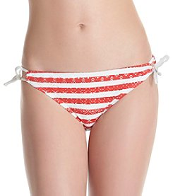 In Mocean® Classic Stripe Crochet Keyhole Hipster Bottoms