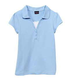 Nautica® Girls' 7-16 Short Sleeve Polo with Cami