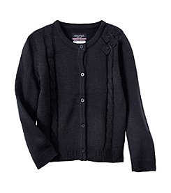 Nautica Girls' 4-6 Cardigan With Bows