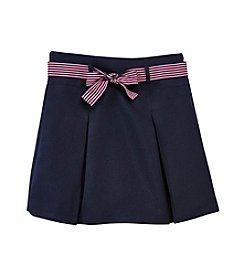 Nautica® Girls' 7-16 Pleated Ribbon Scooter Skirt