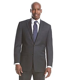 Lauren Ralph Lauren Men's Stretch Big & Tall Charcoal Solid Suit Separate Jacket