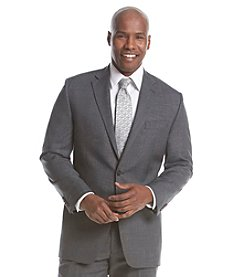 Lauren Ralph Lauren Men's Stretch Gray Sharkskin Suit Separate Two- Button Jacket