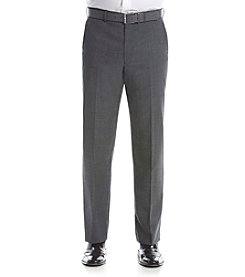 Lauren Ralph Lauren Men's Stretch Gray Sharkskin Suit Separate Flat Front Pant