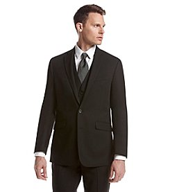REACTION Kenneth Cole Men's Slim Fit Two-Button Solid Suit Separates Jacket