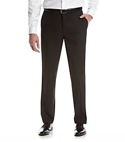 REACTION Kenneth Cole Men's Flat Front Black Suit Separates Pants