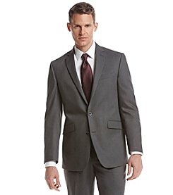 REACTION Kenneth Cole Men's Gray Suit Separates 2-Button Jacket