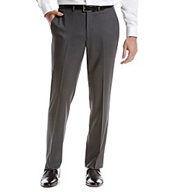 REACTION Kenneth Cole Men's Slim Fit Flat Front Gray Suit Separates Pants