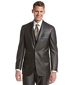 REACTION Kenneth Cole Men's Slim Fit Gray Sheen Suit Separates Jacket