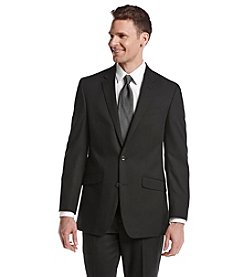 REACTION Kenneth Cole Men's Black Solid Suit Separates Jacket
