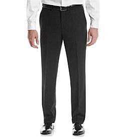 REACTION Kenneth Cole Men's Black Solid Suit Separates Flat Front Pants