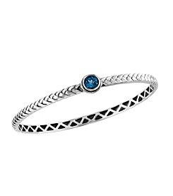 Effy® 925 Collection Blue Topaz Bangle in Sterling Silver