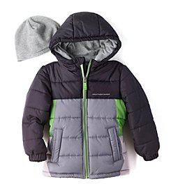 Weather Tamer® Boys' 4-16 Puffer Jacket With Hat