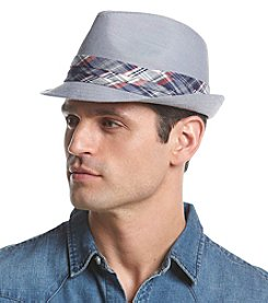 LAKE of the ISLES® Men's Chambray Fedora With Plaid Band