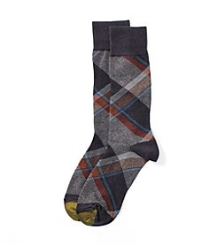 GOLD TOE® Men's Plaid Dress Socks