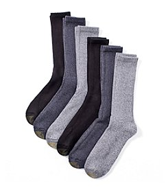 GOLD TOE® Men's 6-Pack Herrington Crew Socks