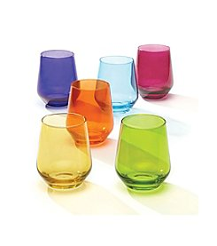 Lenox® Tuscany 6-Piece Assorted Color Stemless Wineglass Set