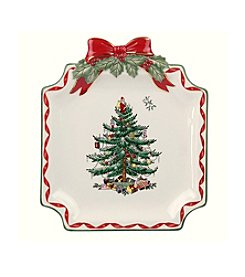 Spode® Christmas Tree Ribbons Canape Plate