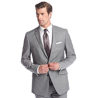 Kenneth Cole New York reg  Men s Slim Fit Gray Sharkskin Suit Separates  Jacket 35407d051