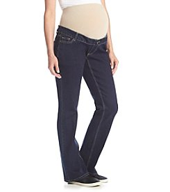 Three Seasons Maternity™ Darkwash Flare Jean With Natural Belly Band