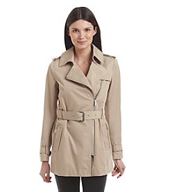 MICHAEL Michael Kors Front Zip Trench Coat