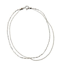 Marsala Sterling Silver Chain Anklet