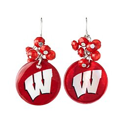 accessory PLAYS™ NCAA® Wisconsin Badgers Shell Cluster Earrings